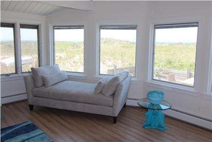 Truro Cape Cod vacation rental - Panoramic View of Dunes & Bay From Living Room