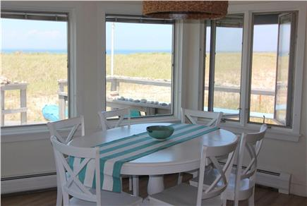 Truro Cape Cod vacation rental - Dining Area With Panoramic View of Dunes & Bay