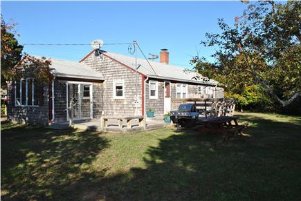 Eastham Cape Cod vacation rental - Private backyard with deck and outdoor shower
