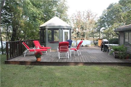 Orleans Cape Cod vacation rental - Large deck and gazebo overlooking Crystal Lake