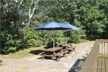 Eastham Cape Cod vacation rental - Large private back yard with deck and picnic tables