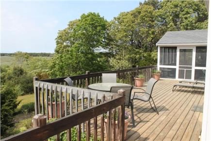 Eastham Cape Cod vacation rental - Large deck with view of marsh
