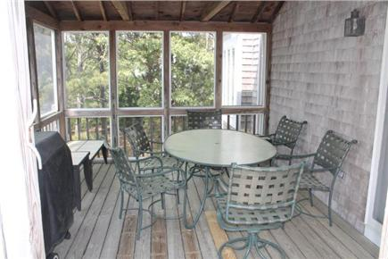 Eastham Cape Cod vacation rental - Sitting area inside screened porch