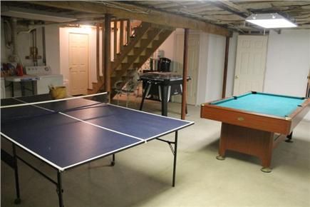 Eastham Cape Cod vacation rental - Basement with pool table, ping pong table and table hockey