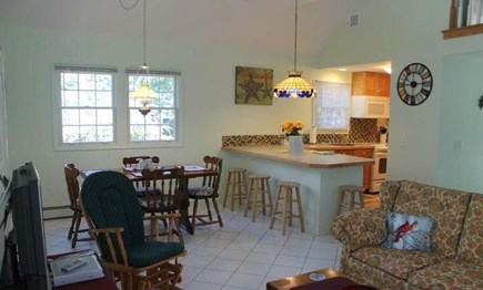Eastham Cape Cod vacation rental - Open dining / living / kitchen area