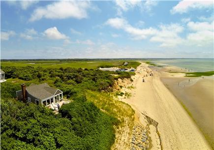 Eastham Cape Cod vacation rental - Aerial view of beachfront home