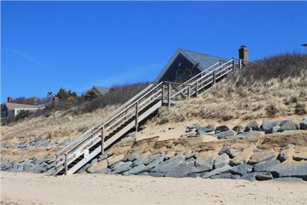 Eastham Cape Cod vacation rental - Stairs to private association beach