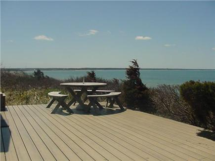 Eastham Cape Cod vacation rental - Deck with view of Cape Cod Bay