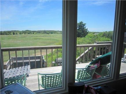 Eastham Cape Cod vacation rental - View of the deck and marsh