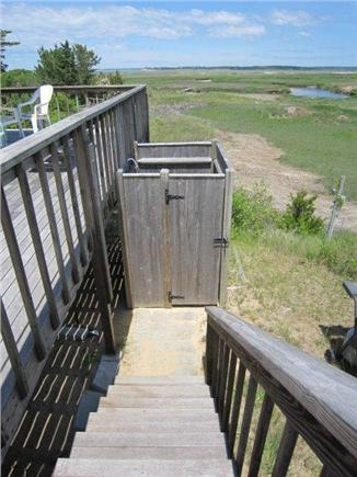 Eastham Cape Cod vacation rental - Outdoor shower off the deck
