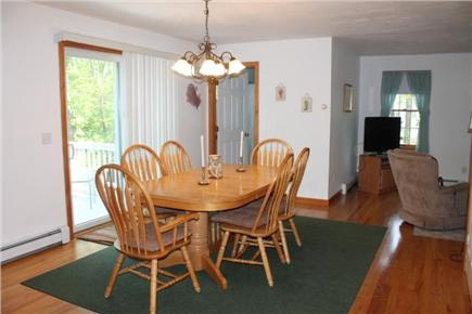 Eastham Cape Cod vacation rental - Dining area with sliders to the deck