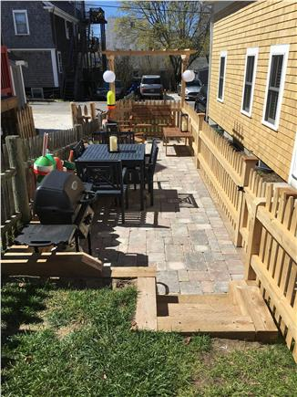 Provincetown Cape Cod vacation rental - A new patio waiting for next summer's festivities.