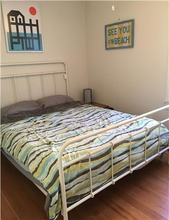 Provincetown Cape Cod vacation rental - The first bedroom has a memory foam queen bed and ceiling fan.