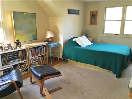 Eastham Cape Cod vacation rental - Loft bedroom with original local art.