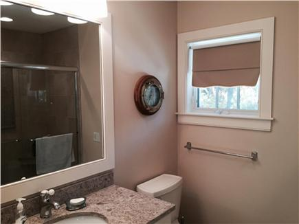 East Orleans Cape Cod vacation rental - View of Main Bath With Shower (in Mirror)