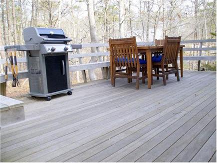 Wellfleet Cape Cod vacation rental - Deck overlooking the backyard