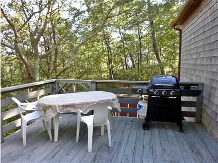 Wellfleet Cape Cod vacation rental - Deck with gas grill and table for dining