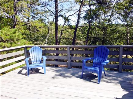 Wellfleet Cape Cod vacation rental - Private, sunny deck looks out to National Seashore property
