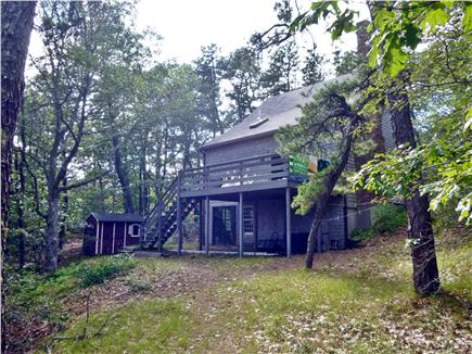 Wellfleet Cape Cod vacation rental - Back of House is very private with elevated deck