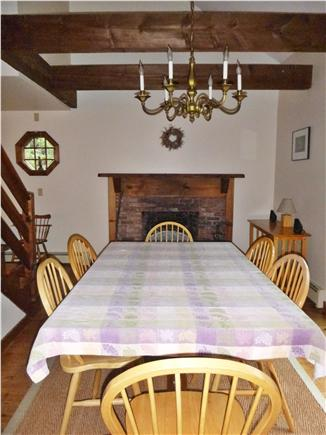 Wellfleet Cape Cod vacation rental - Dining room with open beam ceiling