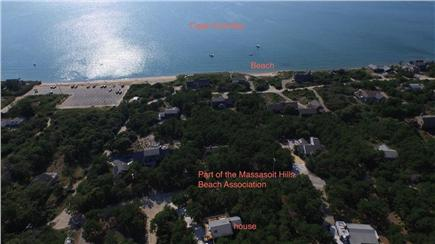 Eastham Cape Cod vacation rental - Aerial view of house and the area