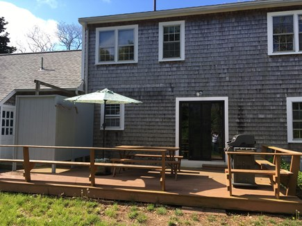 Eastham Cape Cod vacation rental - Private deck with grill and outdoor furniture