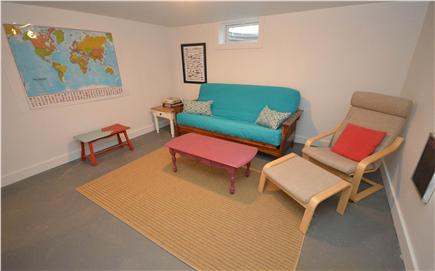 Eastham Cape Cod vacation rental - Game room in basement with flat screen TV