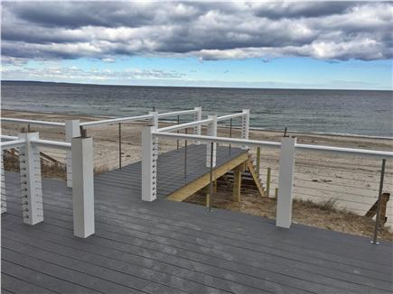 East Sandwich Cape Cod vacation rental - Oceanfront deck with boardwalk to your private beach.