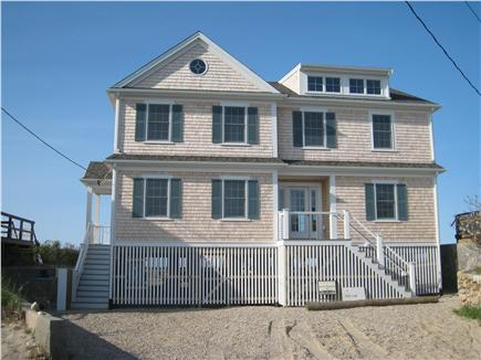 East Sandwich Cape Cod vacation rental - Driveway side of beach house.  This is a townhouse (duplex).
