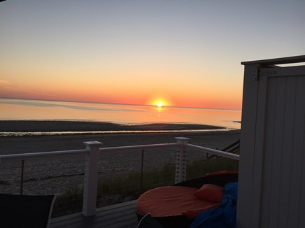 East Sandwich Cape Cod vacation rental - Beautiful deck sunset