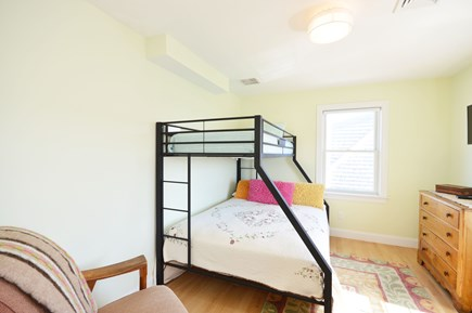East Sandwich Cape Cod vacation rental - Bunk beds with queen bed on the bottom.