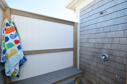 East Sandwich Cape Cod vacation rental - Private enclosed outdoor shower with hot and cold water