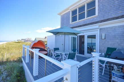 East Sandwich Cape Cod vacation rental - Relax in the cabana chair on your oceanfront deck