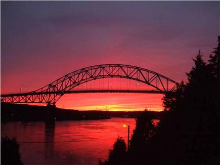 West Yarmouth Cape Cod vacation rental - Fall Sun Set Sagamore Bridge from the web.