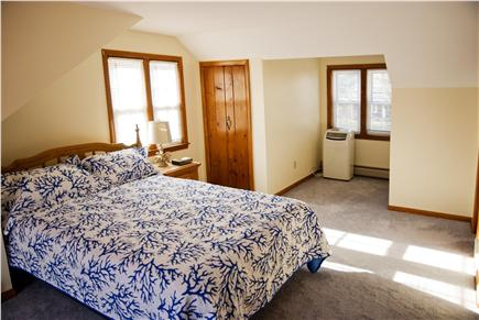 West Yarmouth Cape Cod vacation rental - Bedroom 4 with queen size bed, closets & French doors to deck