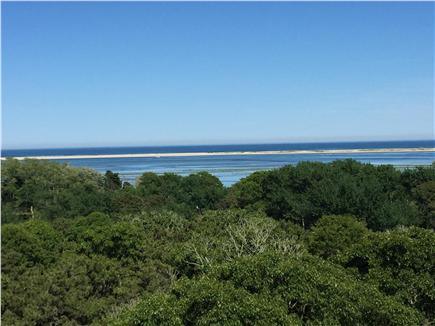 North Chatham, Half a mile to  Cape Cod vacation rental - 180 Degree View of N. Beach & the Atlantic From the Back Patio