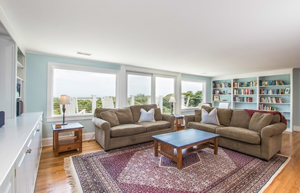 North Chatham, Half a mile to  Cape Cod vacation rental - 2nd Fl family room with sliders to deck & views of north beach