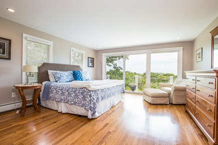 North Chatham, Half a mile to  Cape Cod vacation rental - 1st Fl master (king bed) with sliders to deck & views