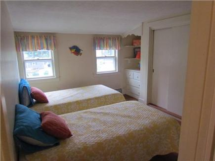 Dennis Port Cape Cod vacation rental - Upstairs bedroom with 2 twins, closet and built ins.