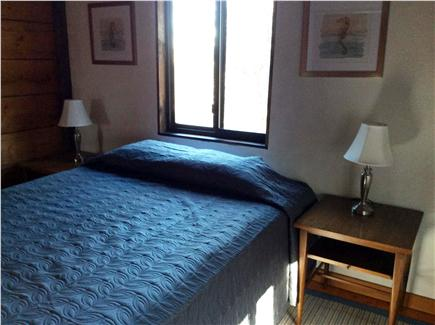 Wellfleet Cape Cod vacation rental - Upstairs queen bedroom with two windows and air conditioner