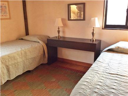 Wellfleet Cape Cod vacation rental - First floor twin bedroom (two windows)