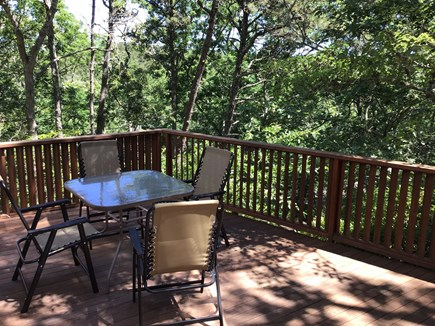 Wellfleet Cape Cod vacation rental - Front deck (with outdoor shower)