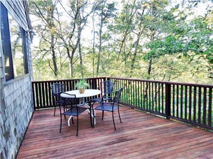Wellfleet Cape Cod vacation rental - Deck by front door.  This deck has private outdoor shower.