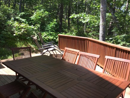 Wellfleet Cape Cod vacation rental - Back deck (with large charcoal grill)