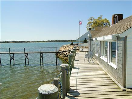 South Orleans Cape Cod vacation rental - Deck runs the length of the house, swim off deck