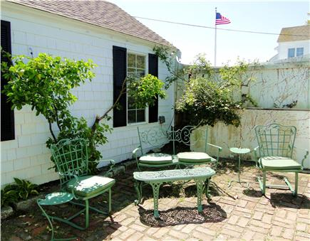 South Orleans Cape Cod vacation rental - Courtyard patio area with grill