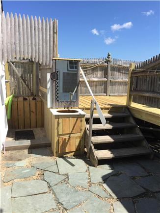 Pleasant Bay, South Orleans Cape Cod vacation rental - Outdoor shower and sink enable tanning while grooming.