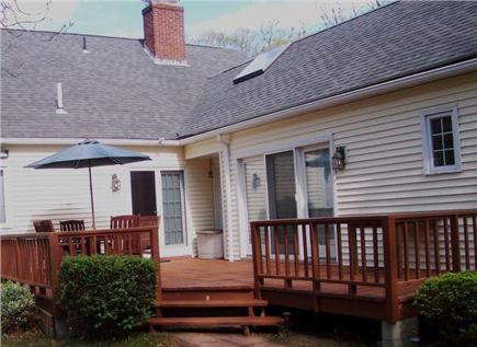 Eastham Cape Cod vacation rental - Enjoy the spacious deck!