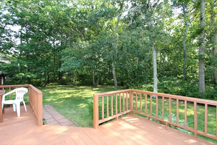 Eastham Cape Cod vacation rental - View from deck of very private backyard
