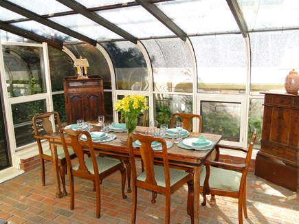 South Orleans Cape Cod vacation rental - The conservatory dining area.